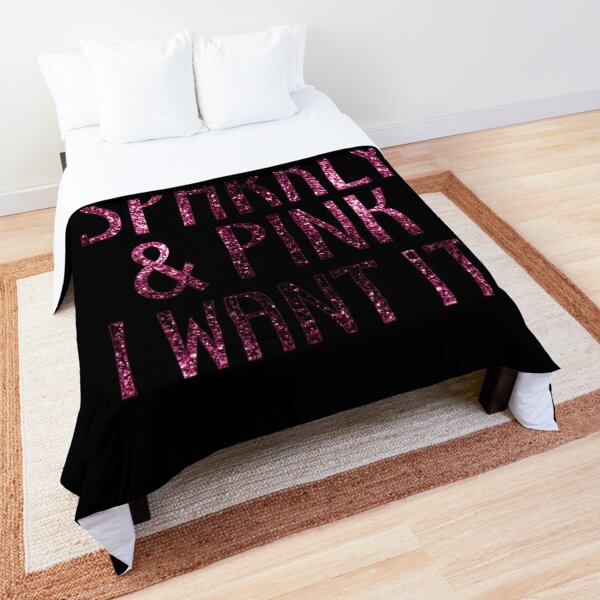 If it is Sparkly and Pink I want it | Black Comforter