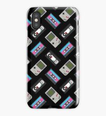 Gameboy, Cassette, and VHS Classic (black) iPhone Case/Skin