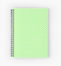 Green Summer Polka Dots Spiral Notebook