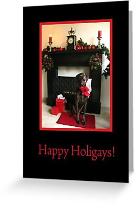 Happy Holigays: Pointer and Fireplace by Sabbia-Natale