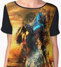 Mermaid Colour Explosion Women's Chiffon Top