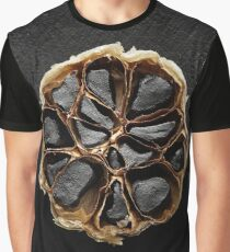 Black Garlic cross-section Graphic T-Shirt