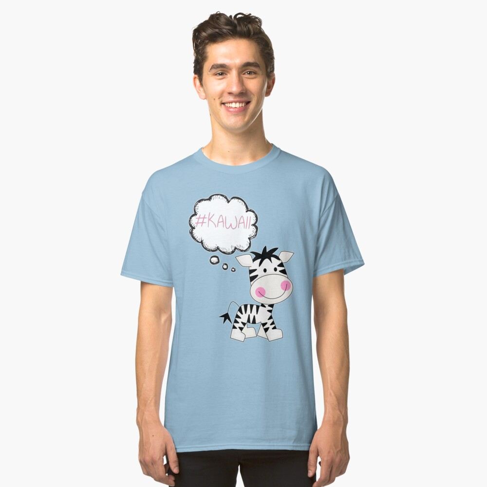 Kawaii Zebra So Cute Classic T-Shirt Front