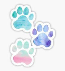 Watercolor Paw Print Trio Sticker