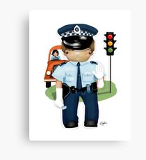 The Little Policeman Canvas Print