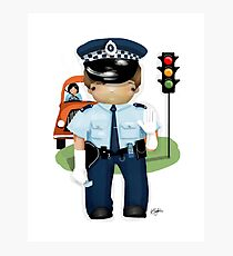 The Little Policeman Photographic Print