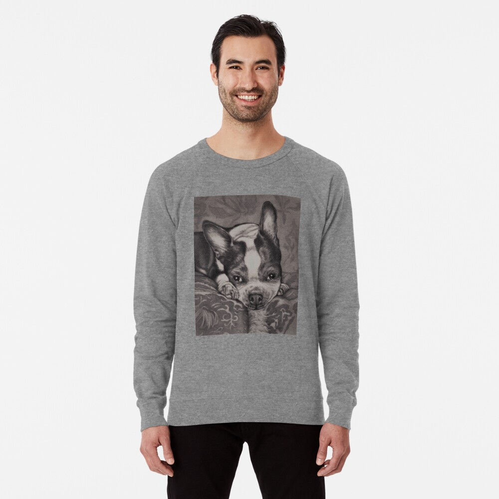 Dear Old Boston on Her Pillows Lightweight Sweatshirt Front