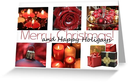 Happy Holigays: Red Winter Collage by Sabbia-Natale