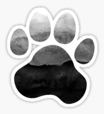 Gray Ombre Paw Print Sticker