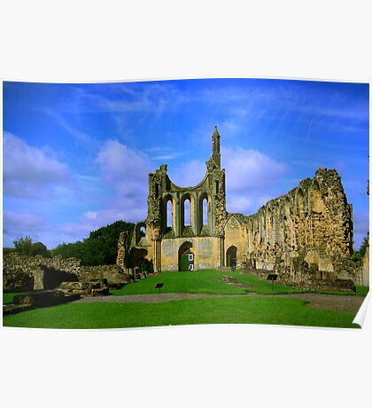 Byland Abbey  North Yorkshire Poster