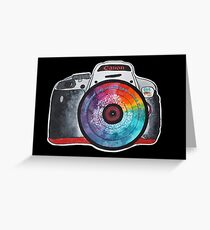 Colorful Lens Photography Greeting Card