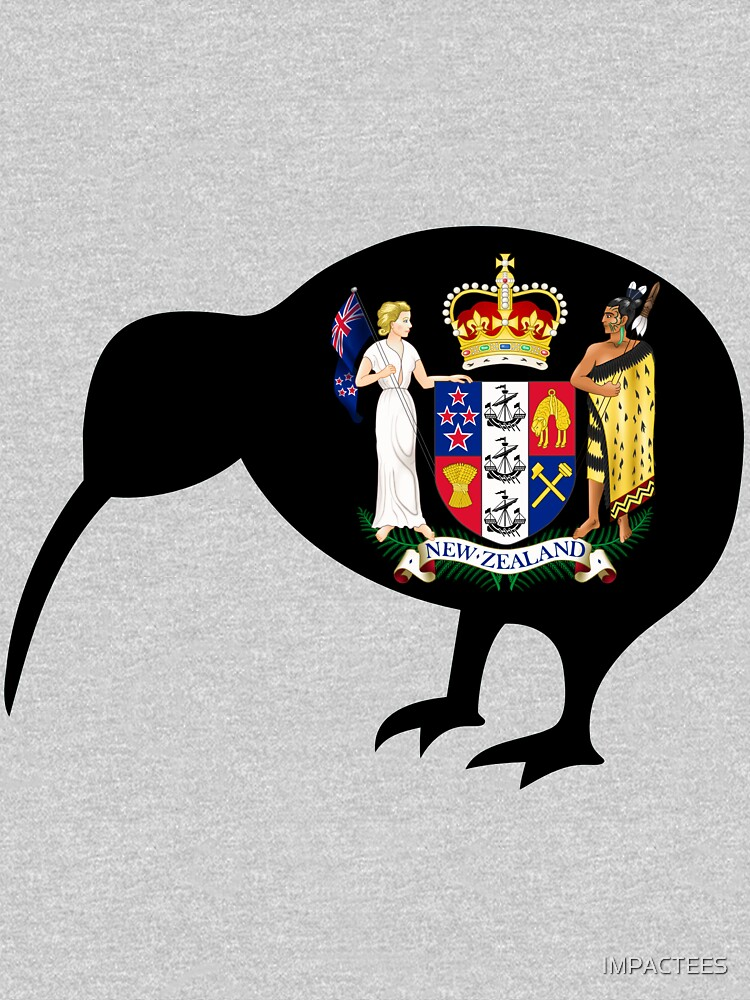 NEW ZEALAND-KIWI COAT OF ARMS by IMPACTEES