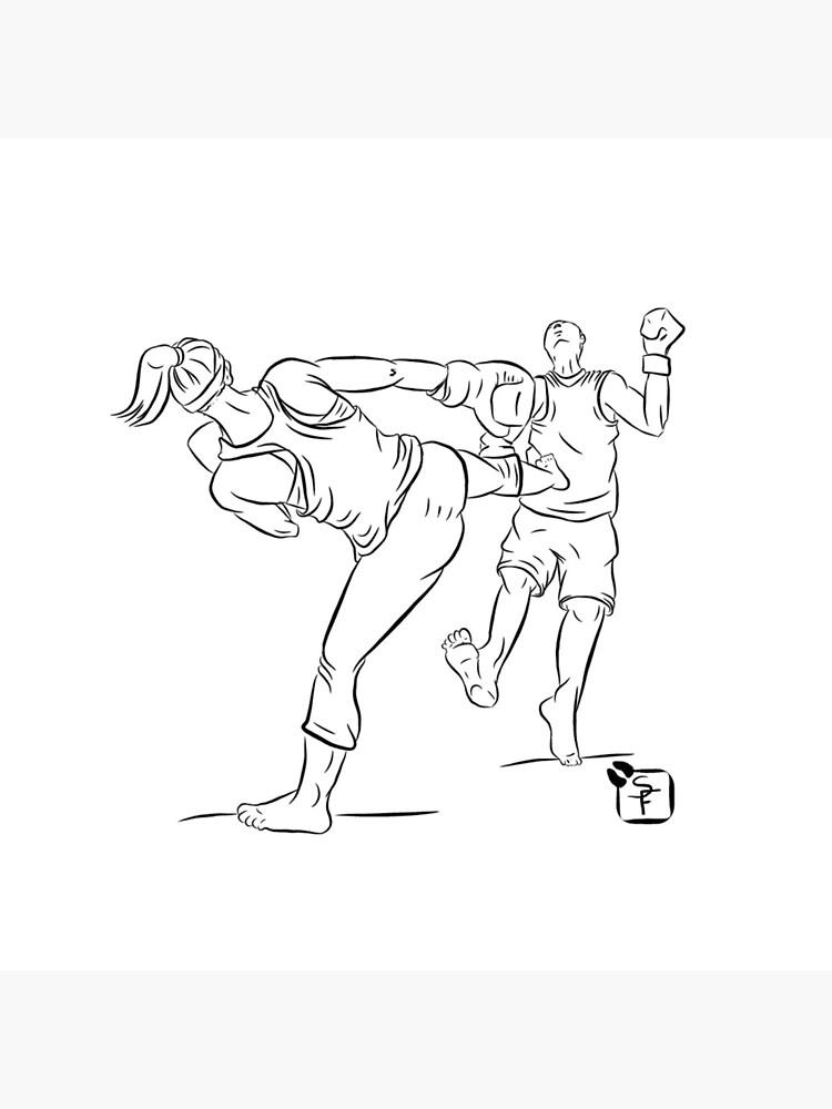 Kick Boxing Queen - Sticker Version by SonneFaunArt