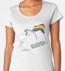 Bin chickens for marriage equality Women's Premium T-Shirt