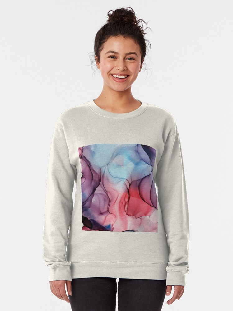 Alternate view of Flame Fired Alcohol Ink Painting Pullover Sweatshirt