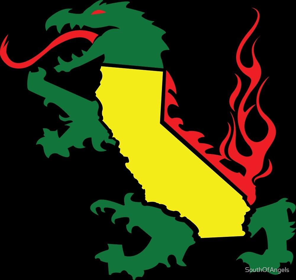 California Rasta Dragon by SouthOfAngels