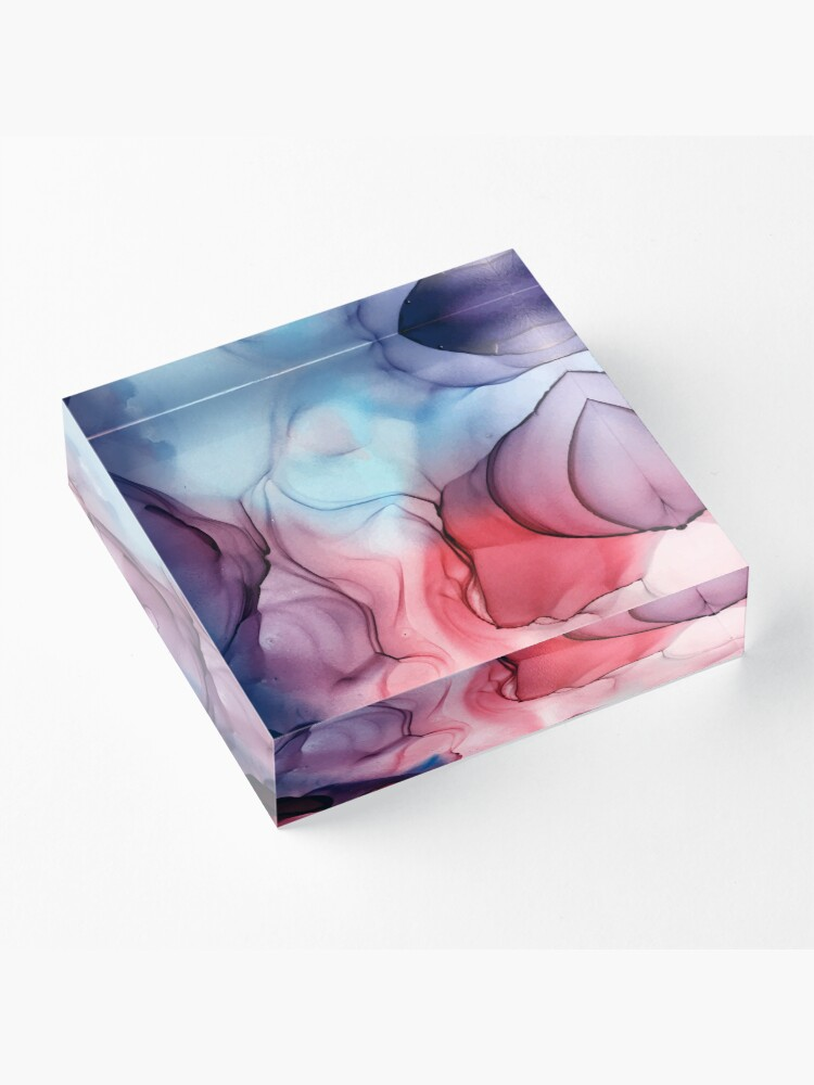 Alternate view of Flame Fired Alcohol Ink Painting Acrylic Block
