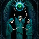 Conjuring of the Skeleton Witches, Horror Gothic Art by ShaireProd