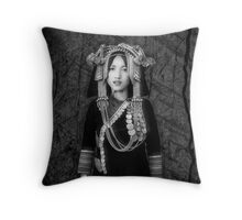 'Akha Hill Tribe Innocence' Throw Pillow by Glen Allison
