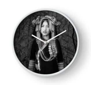 'Akha Hill Tribe Innocence' Clock by Glen Allison