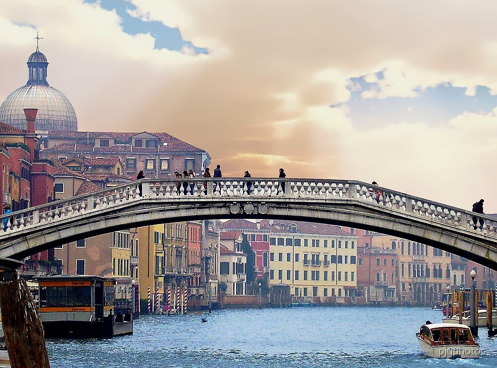 Bridge over the grand canal by pjyphotos