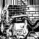 Oskair the trash-munching garbage monster by John Little