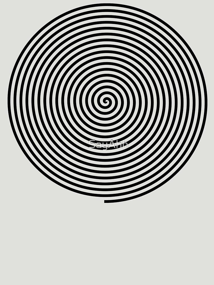 Hypnotic Spiral - Trippy Shirt by SayAhh