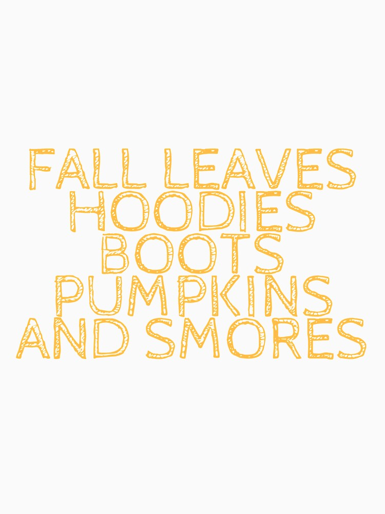 Fall leaves, hoodies, boots, pumpkins, and smores by Charloni