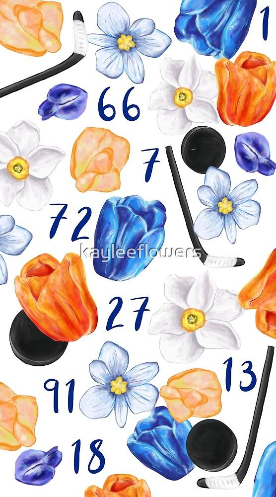 NY Islanders Floral Design by kayleeflowers