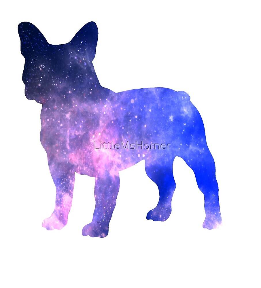 Galaxy French Bulldog: Pink/Purple by LittleMsHorner