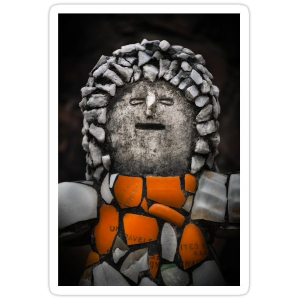 Nek Chand Fantasy 2 - STICKER by Glen Allison