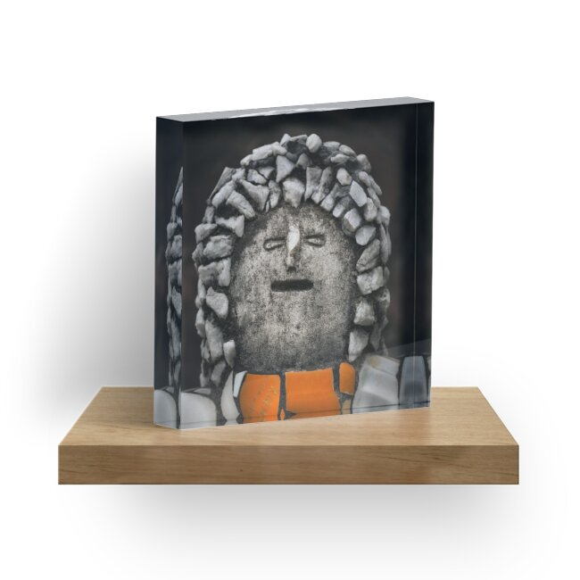 Nek Chand Fantasy 2 - ACRYLIC BLOCK by Glen Allison