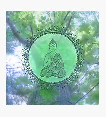 Heart Chakra Nature Buddha Photographic Print