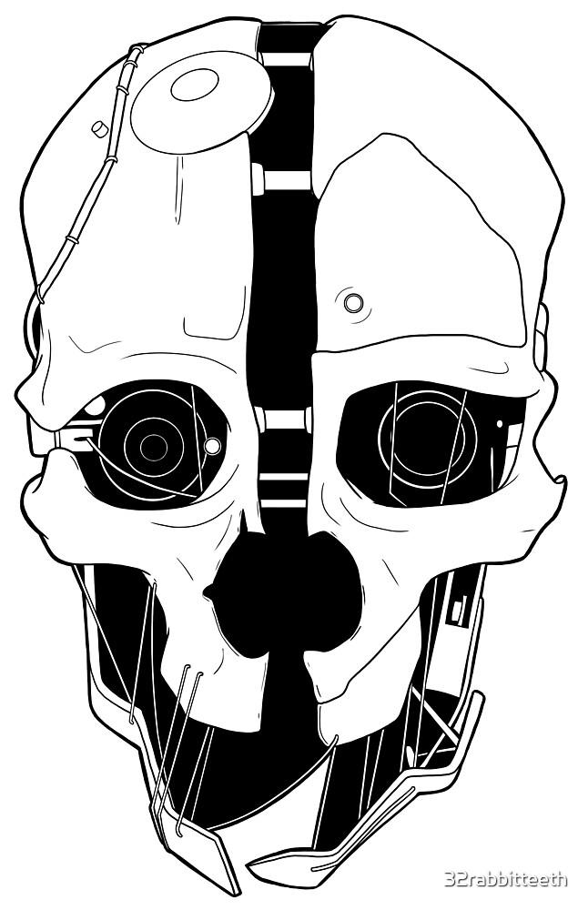 Corvo's Mask by 32rabbitteeth