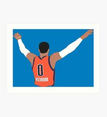 Russell Westbrook Back-To Art Print