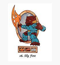 Battle beasts 16 sly fox Photographic Print
