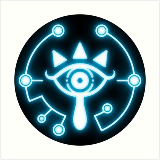 Zelda Eye Symbol Sticker Blue Art Prints By Trinketgeek Redbubble