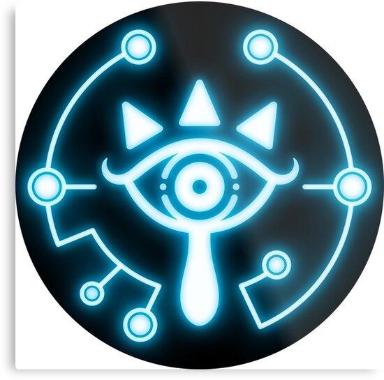Zelda Eye Symbol Sticker Blue Metal Prints By Trinketgeek Redbubble