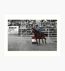 The rodeo- select color Art Print