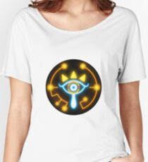 Zelda eye symbol sticker blue and orange Women's Relaxed Fit T-Shirt