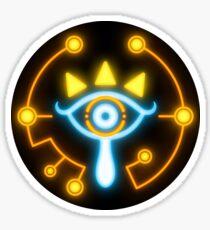 Zelda eye symbol sticker blue and orange Sticker