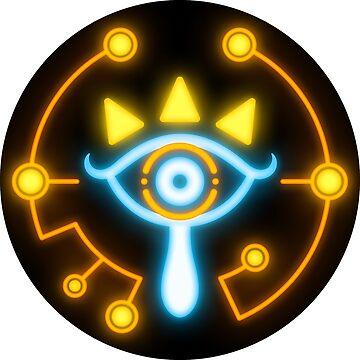 Zelda eye symbol sticker blue and orange by TrinketGeek