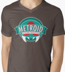 Metroid Cartography and Bounty Hunting Men's V-Neck T-Shirt