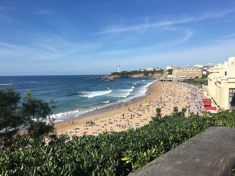 Biarritz Beach  by skycaitlin