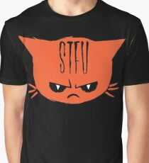 Shut the f*ck up - Angry Cat Graphic T-Shirt