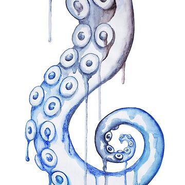 Blue Spiral Tentacle by SchwaigerStudio