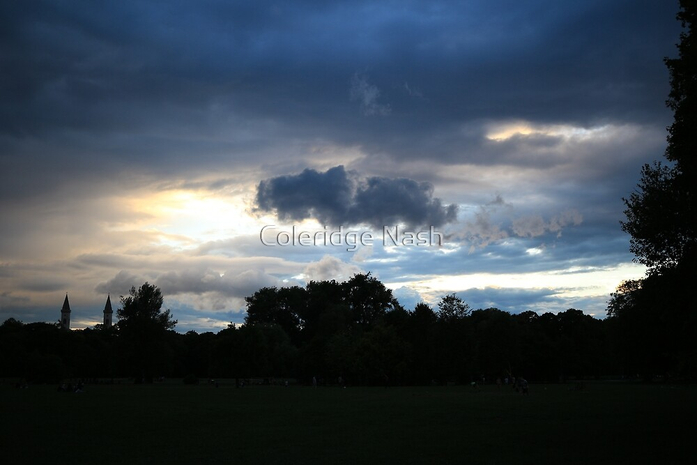 German Sky at Dusk by Coleridge Nash
