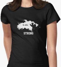 st. john strong Women's Fitted T-Shirt
