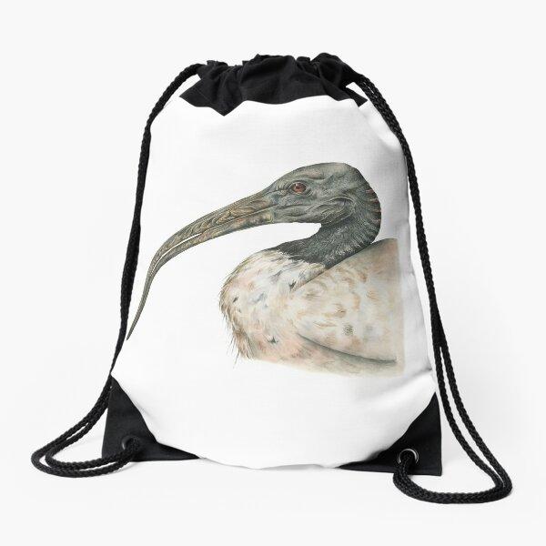Australian White Ibis Drawstring Bag
