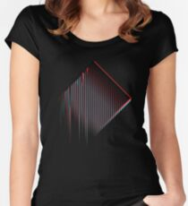 3D Minimal Techno Chaos Women's Fitted Scoop T-Shirt